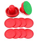 EpicGifts New Mini Air Hockey Pucks and Paddles Replacement Eight Puck Value Pack