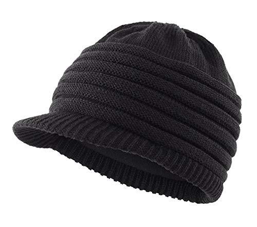 Home Prefer Men's Knit Winter Hat Fleece Lined Thermal Knit Beanie Cap...