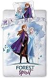 Aymax S.P.R.L. - Juego de funda nórdica (140 x 200 cm y funda de almohada 65 x 65 cm), diseño de Frozen