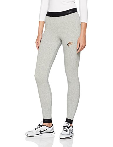 Nike Damen Tights Air, Dark Grey Heather/Black, L, 930577-063