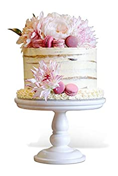 12 inch White Wooden Cake Stand - for All Occasions Weddings Christenings Birthday Parties