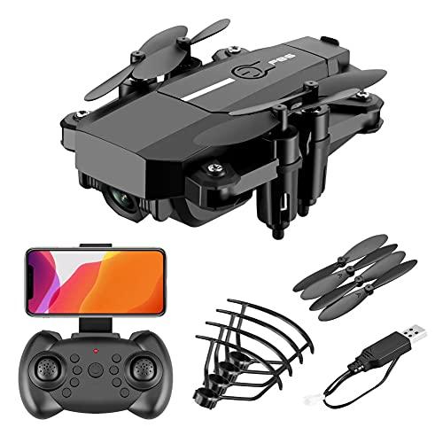 MAFANG Drone con Cámara 4K HD, Dron WiFi FPV por Control Remoto, Control De Gestos, Quadcopter Helicóptero con Headless Modo, Altitud Hold, G-Sensor, Modo Órbita, 3D Flip,Negro