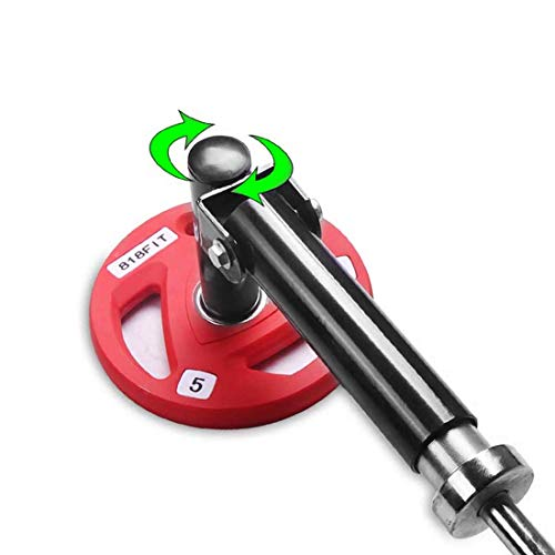 ZOVOTA Barbell Landmine Attachment Tbar Row Plate Landmine Swivel Fits 2quot Olympic Bars Back Exercise Gym Equipment