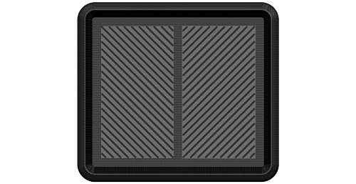 Irongate Entryway Set of 2 Rugged Compact All-Weather Rubber Boot Trays, 16' X 18', Black