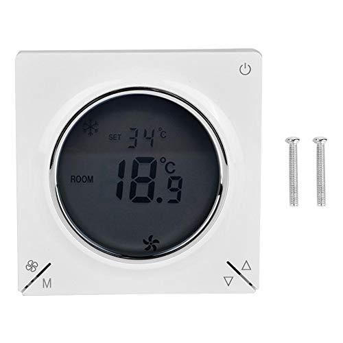 Fan Coil Thermostat Zentrale Klimaanlage Kühlung Heizung Raumtemperaturregler 5~35 ° C Temperatureinstellung, 86x86x13mm