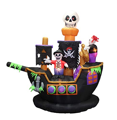 7 ft Inflatable Pirate Ship Halloween Decoration