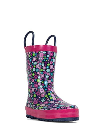 Western Chief Girls Blossom Blast Waterproof Rain Boot, 9 Toddler