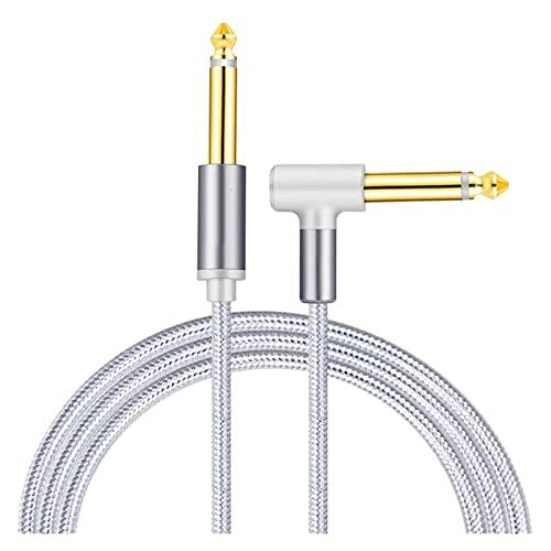 Cable de Plomo de Guitarra 6.35mm 1/4'Jack Nylon Trenzado de Instrumento de Instrumento de Instrumento de Guitarra eléctrica Guitarra Bajo Teclado Mandolin Mandolin Mandolin Desking
