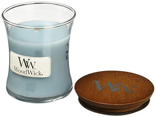 Woodwick Duftkerze im Glas, Duft: Meersalz und Baumwolle, klein