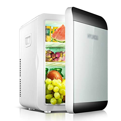 13,5 L Mini Réfrigérateur Voiture Portable et Boîte Chauffante AC 220V / DC 12V avec Cloison Amovible + Panneaux Latéraux , Silencieux 15 Canettes