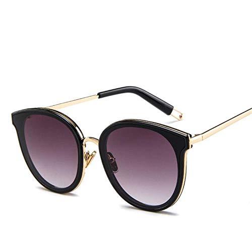 Gafas de Sol de Moda Gafas de Sol de Montura Grande Colores de Caramelo Gafas de Sol de Metal Vintage para Hombres Gafas de Compras al Aire Libre Golddoublegray