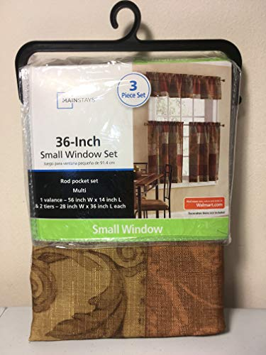 Tuscany Kitchen Window Curtain Set 3 Pc