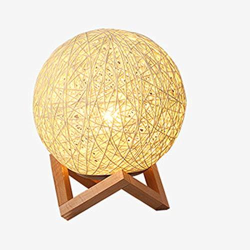LLSPHYDY lámpara de mesa de noche regulable creativo Ins viento estrella lámpara de mesa dormitorio lámpara de noche fantasía sepak Takraw