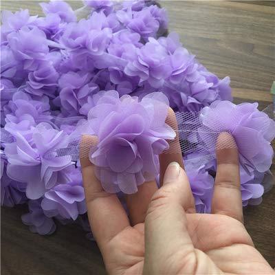 24 piezas de flores, 2 yardas, apliques, parche de encaje de gasa...