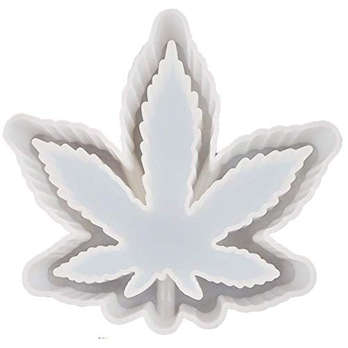 WENLIANG Maple Leaf Ashtray, Diy Crystal Glue Silicone Mold, Storage Decoration, Mirror Double-Sided Mold White