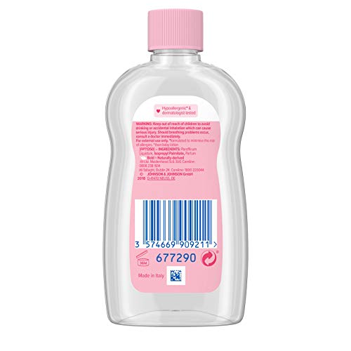 JOHNSON'S Baby Oil 100 ml, Leaves Skin Soft and Smooth, Ideal for Delicate Skin, Moisturises and Protects Delicate Skin from Dryness