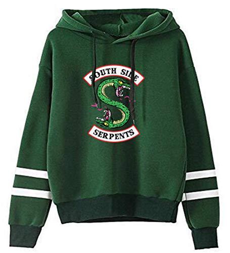 HUASON Riverdale Hombre Mujer Sudadera con Capucha Serpiente Logo Sweatshirt Unisex Pullover de Moda Deportiva Streetwear