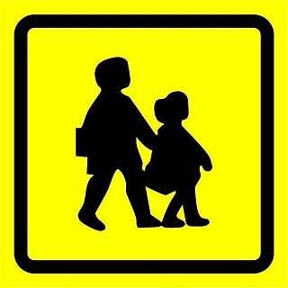School Bus Symbol Safety Sign 12X12 Inch