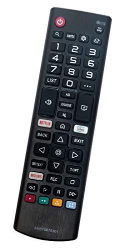 ALLIMITY AKB75675301 Reemplazo de Mando a Distancia para LG TV 43UM71007LB 43UM7390PLC 49UM7400PLB 55UM71007LB 55UM7400PLB...