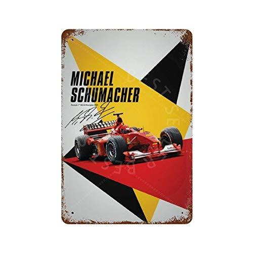 GDRAY Michael Schumacher Vintage Retro Blechschild Metallschild Kunst Stil Poster Home Bar Pub Wanddekoration Öffentliches Schild 20,3 x 30,5 cm