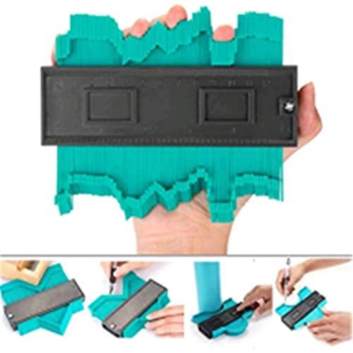 Herramientas de medición Duplicador de indicador de contorno de 5/10 pulgadas, manómetro de contorno multi-funtio azulejos laminado de azulejos de borde de borde de madera regla de medida de madera Ca