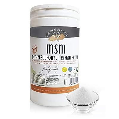 MSM Methylsulfonylmethan Pulver 1kg  Reinheitsgrad 99,92%   organische Schwefelverbindung  Lebensmittelqualität  ohne Rieselhilfen   Golden Peanut
