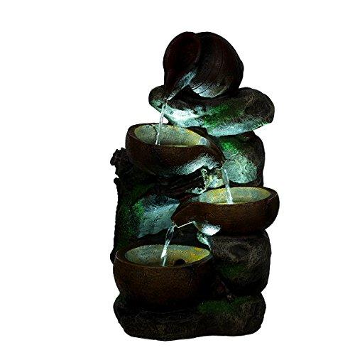 Bella Katalina Brunnen Steine mit 3 LED Leuchten,G53-17085, (Brunnen2) Dekobrunnen, Springbrunnen
