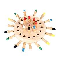 Walory 子供の記憶チェス論理的思考能力記憶観察集中トレーニングおもちゃ親子相互作用ゲーム木製記憶棒チェス,子供の記憶チェス