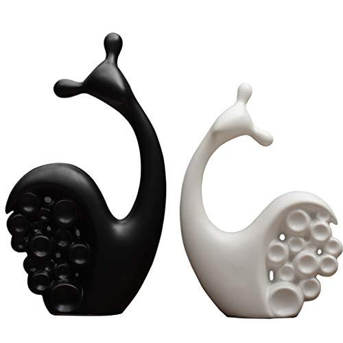 Desktop-Skulptur Nordic Kreative Einrichtungsgegenstände Keramik Liebhaber Schnecke Ornamente Modernen Minimalistischen Schlafzimmer Wohnzimmer Veranda Möbel