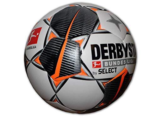 Derbystar Unisex– Erwachsene Bundesliga Hyper TT Fußball Ball, Weiss schwarz orange, 5