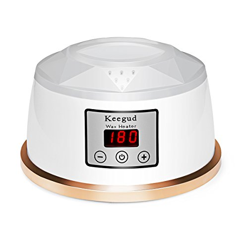 Wax Warmer Hair Removal 2018 Upgrade Version Electric Wax Heater With LCD Temperature Display and UL Certification Plug Waxing Kit Wax Melts with 4 Flavors Hard Wax Beans and 10 Wax Applicator Sticks