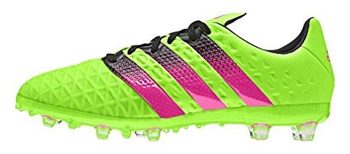 adidas Ace 16.1 FG/AG, Scarpe da Calcio Unisex-Adulto, Verde (Solar Green/Shock Pink/Core Black), 38 2/3 EU