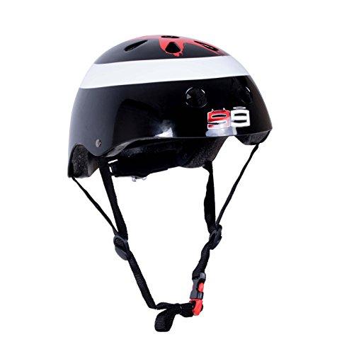 KIDDIMOTO Fahrrad Helm für Kinder - CE-Zertifizierung Fahrradhelm - Design Sport Helm für Skates, Roller, Scooter, laufrad - Jorge Lorenzo - S (48-53cm)
