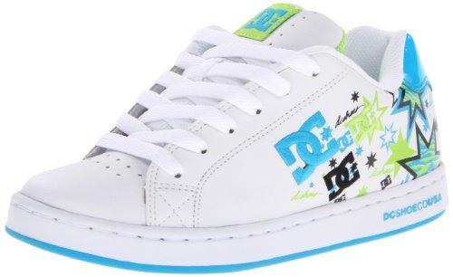 DC Shoes Women's Pixie Zebrastarz Sneaker,White/Soft Lime,7 US/7 M US