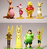 qwermz Anime Model,winnie The Pooh 7-12cm 8pcs/set Action Figure Anime Decoration Collection Figurine Toy Model For Children Gift