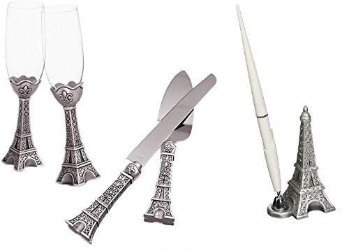 Eiffel Tower Design Wedding Day Accessories