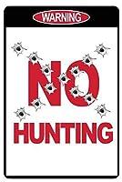 狩猟禁止 メタルポスタレトロなポスタ安全標識壁パネル ティンサイン注意看板壁掛けプレート警告サイン絵図ショップ食料品ショッピングモールパーキングバークラブカフェレストラントイレ公共の場ギフト