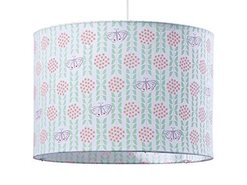 Djeco lampenkap, stof, vlinders, groen, roze, violet