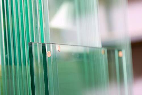 MySpiegel.de Glasscheibe Glasplatte nach Maß in 3mm 4mm 5mm 6mm 8mm 10mm 12mm Klarglas Glasboden Glaswand Glastisch (40 x 40 cm, 6 mm)