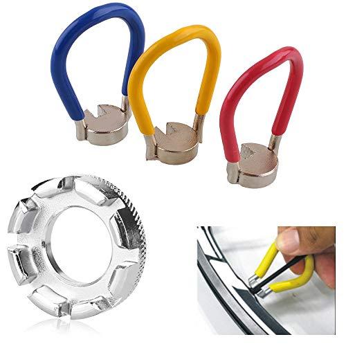 Bestine Cycling Spokes Key, Bike Wheel Spokes Key Tool for Bicycle and Electric Vehicle Spoke Repair (Blue-2PCS)