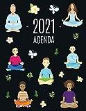 Meditación y Yoga Agenda 2021: Planificador Diaria   Ideal Para la Escuela, el Estudio y la Oficina...