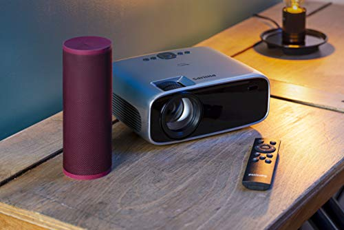 Philips NeoPix Prime Video Projector, 120 Inch Display, Wi-Fi Screen Mirroring, Bluetooth, Built-in Media Player, HDMI, USB, microSD, 3.5mm Audio Out Photo #7