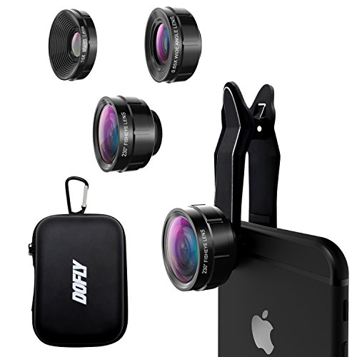 DOFLY Universal Professional HD Camera Lens Kit for iPhone X/8/7Plus/7/6sPlus/6s, Samsung S8+/S8 and...