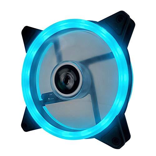 Ventilador de doble apertura de 12 cm con doble aurora, ventilador RGB, carcasa para PC, ventilador deslumbrante, refrigerante