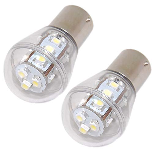 HQRP 2-Pack Headlight LED Bulb compatible with 925-0963 725-0963 1772001 725-0963P 725-0963 Ryobi 13AD678G034 13AN688G034, Yard Machines 13AC762F000 (2008) Lawn Tractor Headlamp
