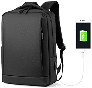 Laptop Backpack,Lumcrissy Water-proof Business laptop Backpack Water Resistent Bag for Men & Women with USB Charging Port ...