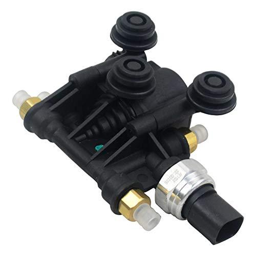 RVH000046 Unidad de control de válvula de suspensión neumática/bloque de válvula EAS delantero compatible con 2006-2013 Ran-ge Rover Sport, 2005-2009 Disc-overy 3/LR3, 2010-2015 4/LR4
