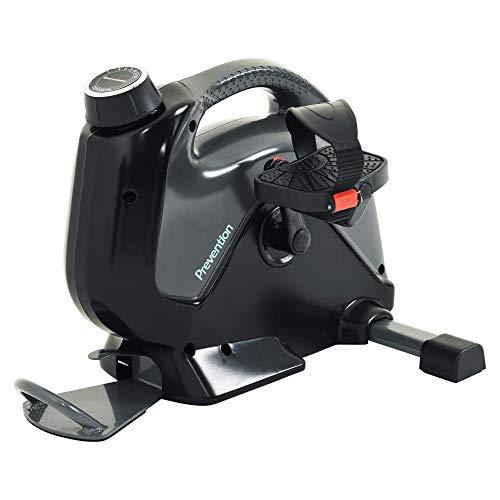 Prevention Bicicleta de ejercicio bajo el escritorio de alto rendimiento con Bluetooth Smart Cloud Fitness y aplicación gratuita [1149], gris/negro