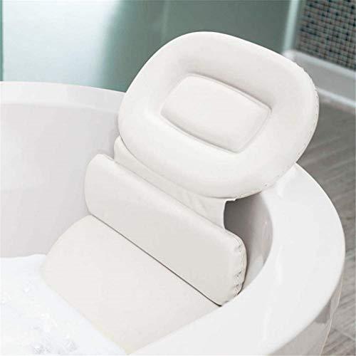 Bath Pillow Tri-vouw rugleuning Waterproof nekkussen voor bad Massage Universal Hoofdsteun met anti-slip zuignap Bad Nackenpolste Bad Accessoires White