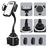 Car Cup Holder Phone Mount, Sopownic Adjustable Gooseneck Cell Phone Mount Cradle Holder for iPhone 11 Pro/XR/XS Max/X/8/7 Plus/6s/ Samsung S10/S9/S8/S7/ Note 10/9/8, Huawei, GPS and More